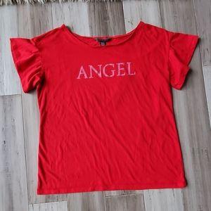 "Victoria's Secret ""Angel"" Embellished Slouchy Tee"